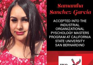Samantha Sanchez Graduate School Acceptances 2021 CSU
