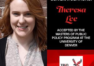 Theresa Lee Graduate School Acceptances 2021 DEN