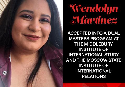 Wendolyn Martinez Graduate School Acceptances 2021 MID