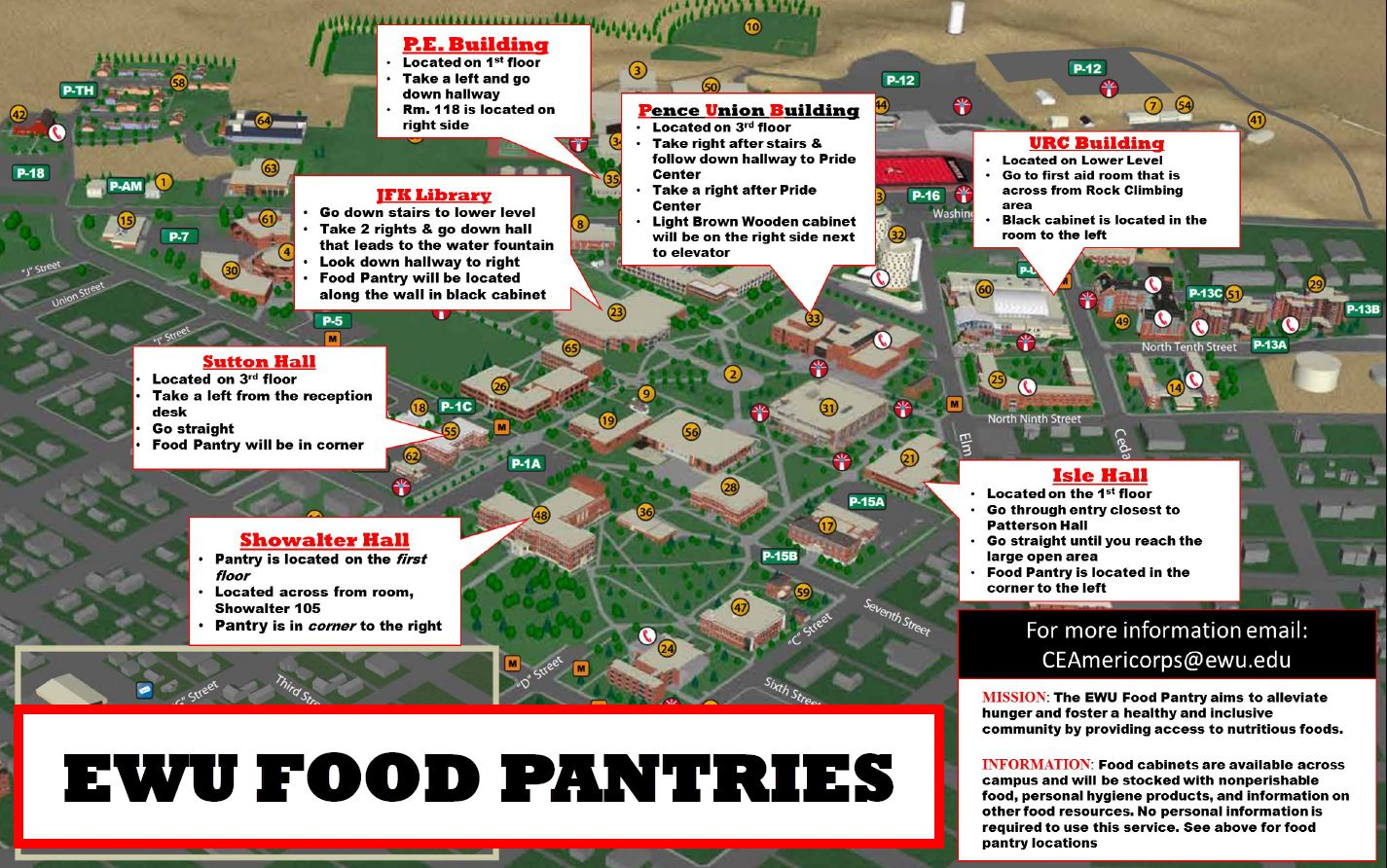 eastern washington university campus map Ewu Food Pantry Program eastern washington university campus map