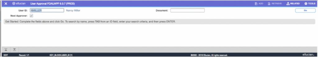 "Shows a screenshot of ""User ID"" dialog."