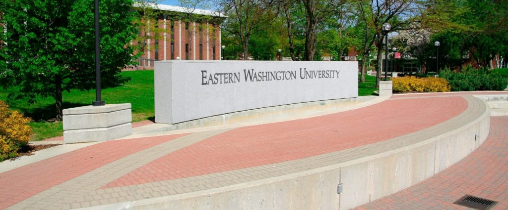 Eastern Washington University engraving in the campus mall