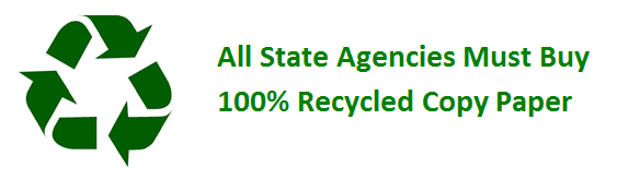 All state agencies must buy 100% recycled copy paper