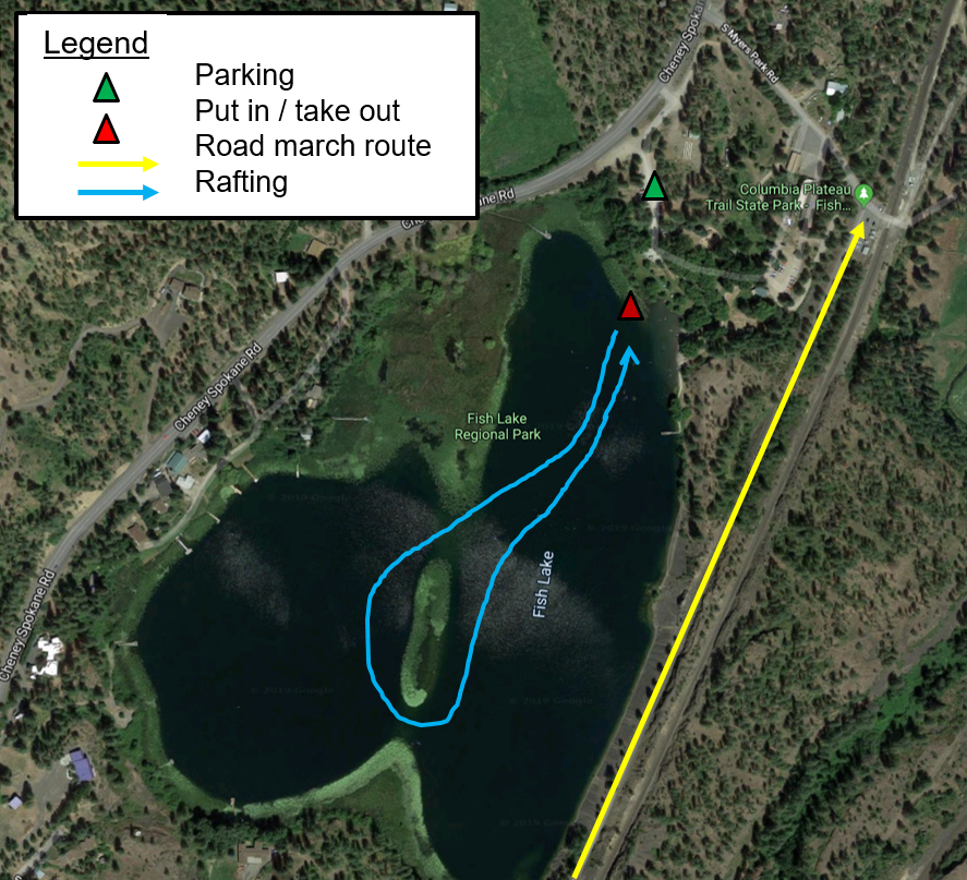 Paddling Route at Fish Lake