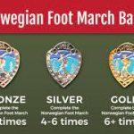 norewegian foot march badges