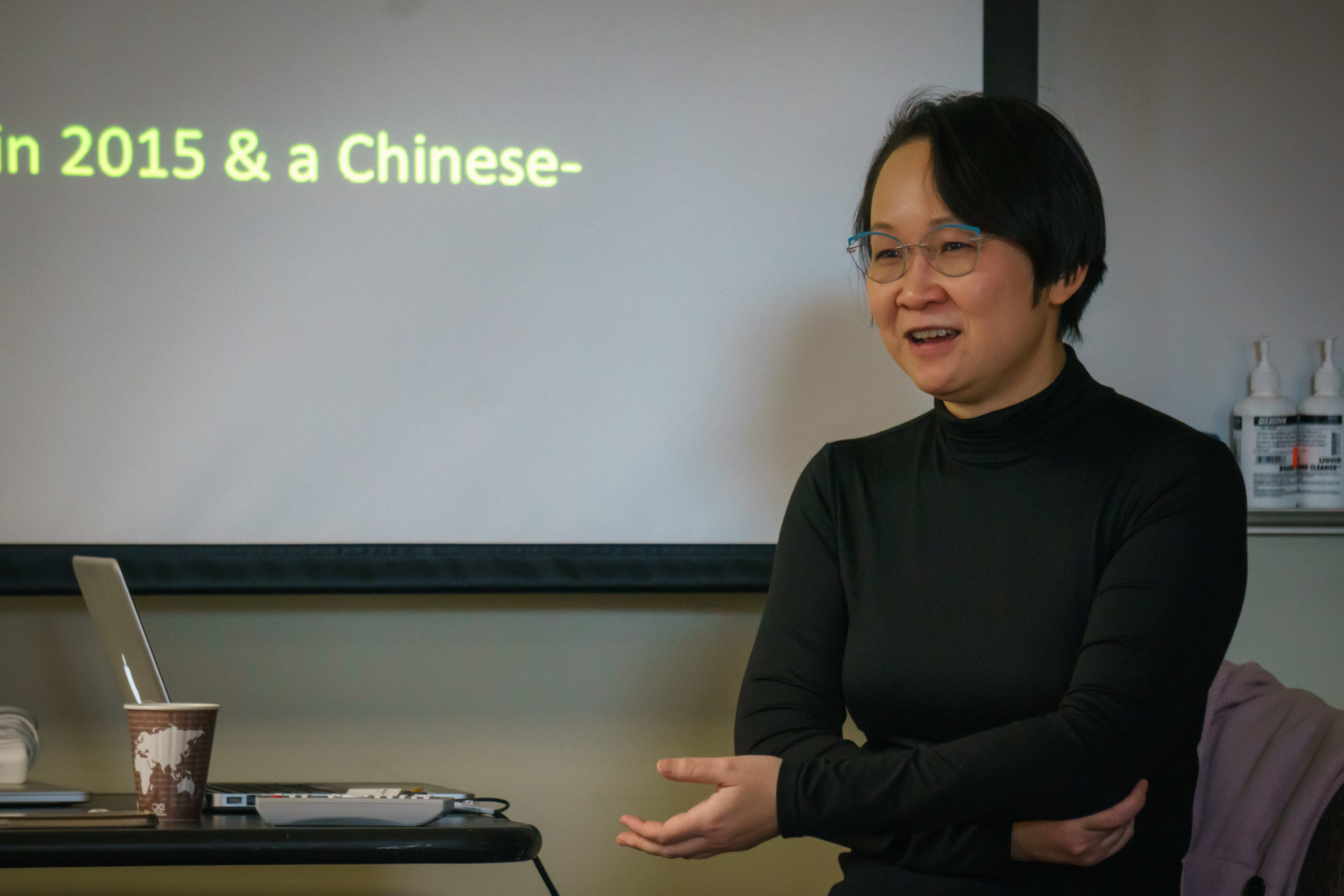 Dr. Pui-Yan Lam addresses the audience