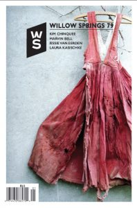 Willow Springs issue 79 cover shows photo of a pink dress against a concrete background.