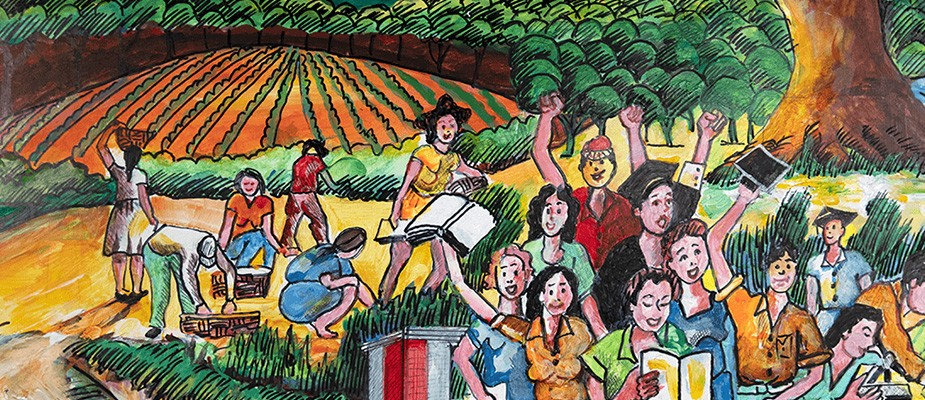 Original artwork by Washington artist Victor Fuentes