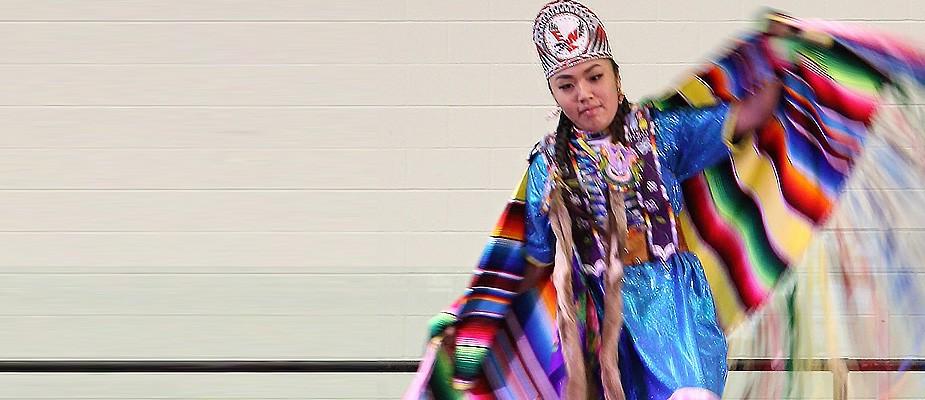 Diversity Week image - Native American Student at EWU Powwow
